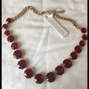 Ann Taylor Gemstone Necklace - New with bag!